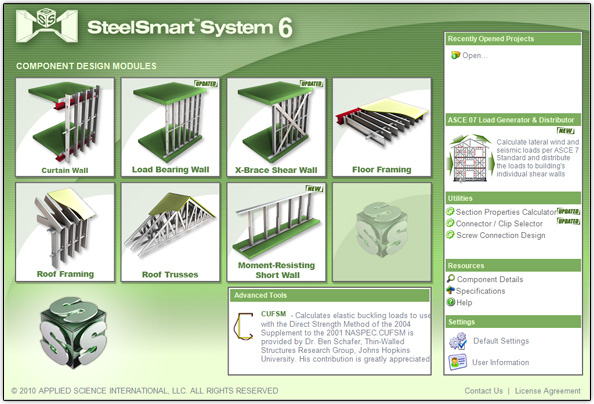 SteelSmart System - Cold Formed Steel Design Software