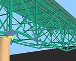 ASI created a three dimensional model of the bridge and performed analysis using its