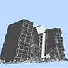 Modeling and prediction of the Stubs Tower Demoliton in Savanah, GA was done by Dr. Emmett Sumner of NCSU using ASI