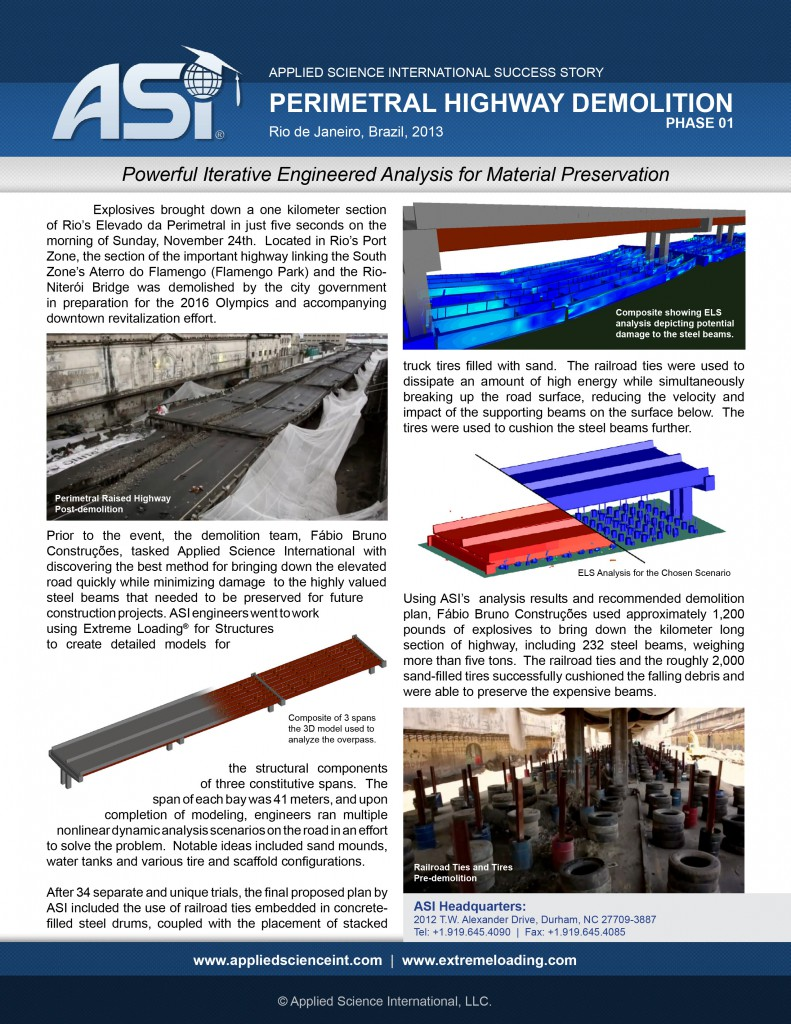 Case Study: Implosion of Perimetral Bridge Phase I