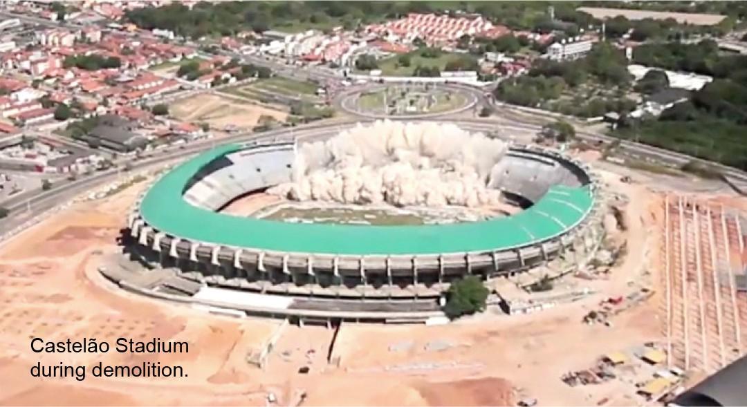 Castelão Soccer Stadium Demolition