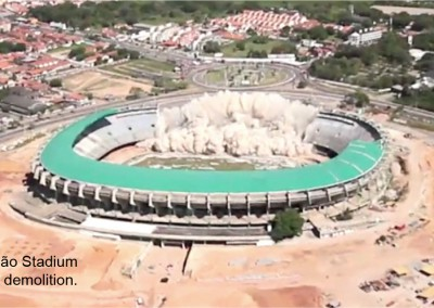 Castelão Soccer Stadium Implosion
