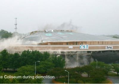 Charlotte Coliseum Implosion