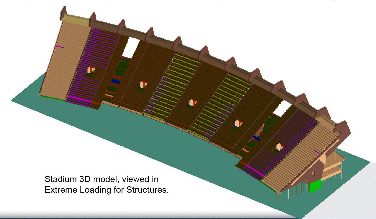 Partial Demolition - Stadium 3D Model Viwer - Applied Science International