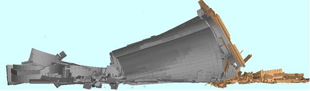 Demolition Modeling - Ambev Large Silo Demolition: T =11 sec - Applied Science International