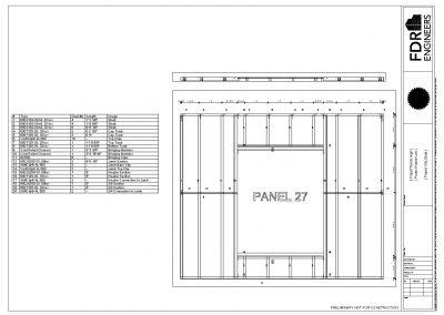 Light Steel Framing BIM Software - Panel Drawing with Cut List - Applied Science International