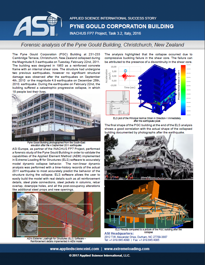 Forensic Analysis of the PGC Building
