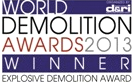 Demolition Company | Applied Science International | Demolition Awards for Explosive Demolition 2013